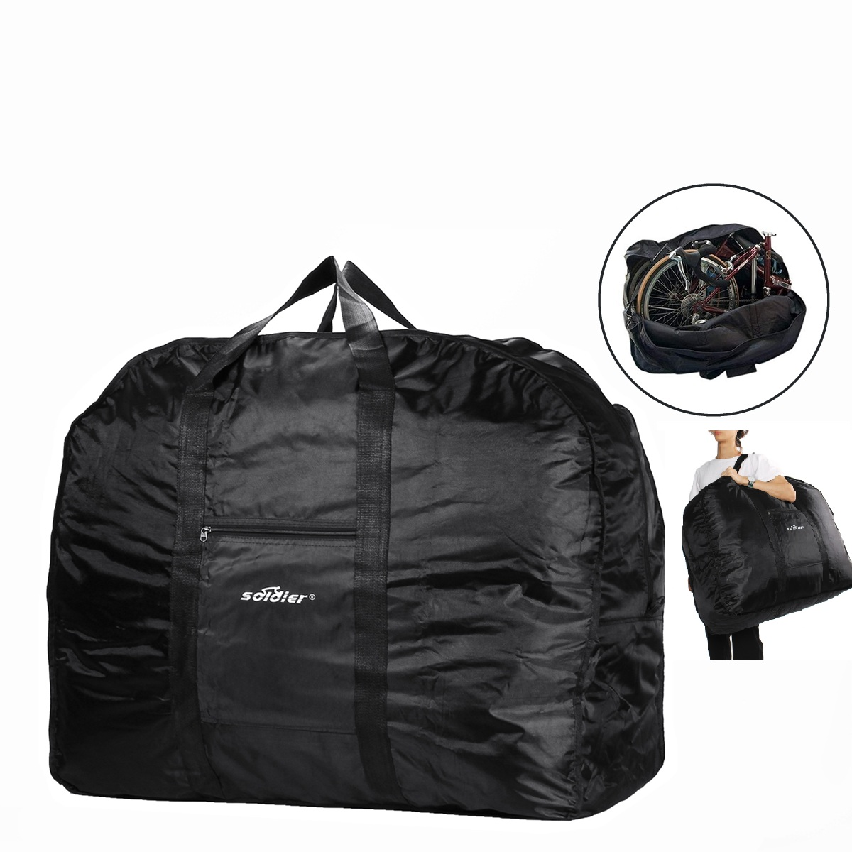 24 Travel Bike Bag Carry Transport Case Mountain Road Bicycle Lu