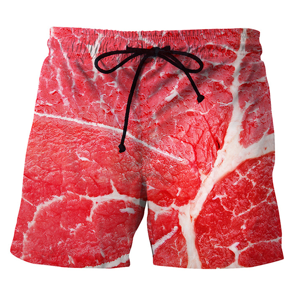 3D Meat Printing Summer Casual Holiday Beach Board Shorts for Me
