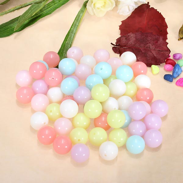 100G Mix Candy Color Acrylic Spacer Loose Beads DIY Jewelry Acce
