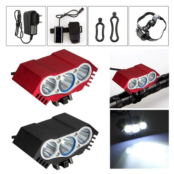 3 x  T6 LED Headlight Front Bike Bicycle HeadLamp Head Light