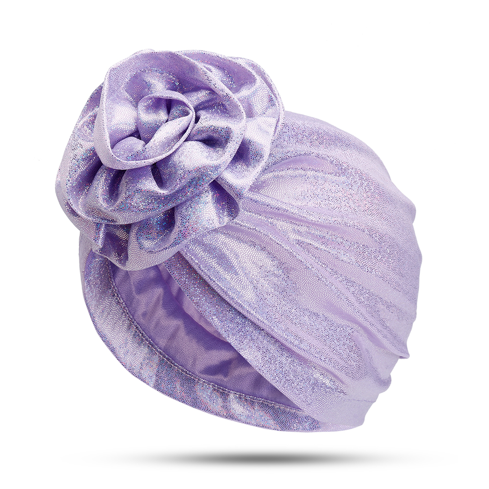 Middle-aged Women Polyester Turban Hat Floral Breathable Chemo C