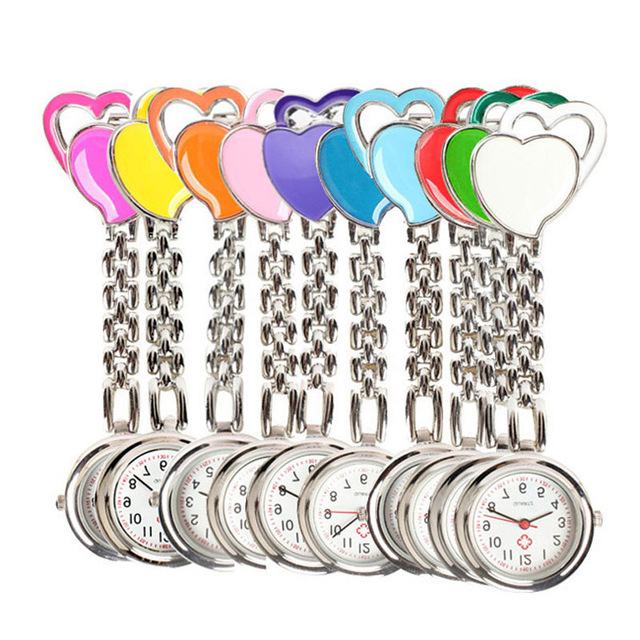 Sweet Heart Pocket Watch Stainless Dial Tunic Fob Pocket Doctor