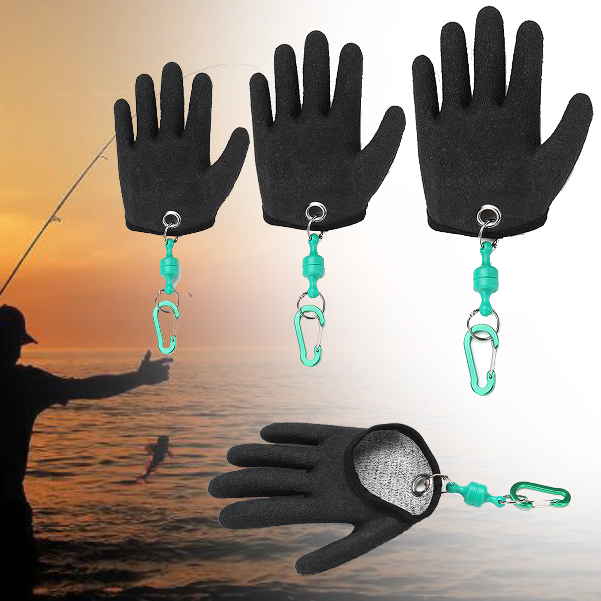 1 Pcs Fishing Glove Safety Magnet Release Keychain Fishing Right