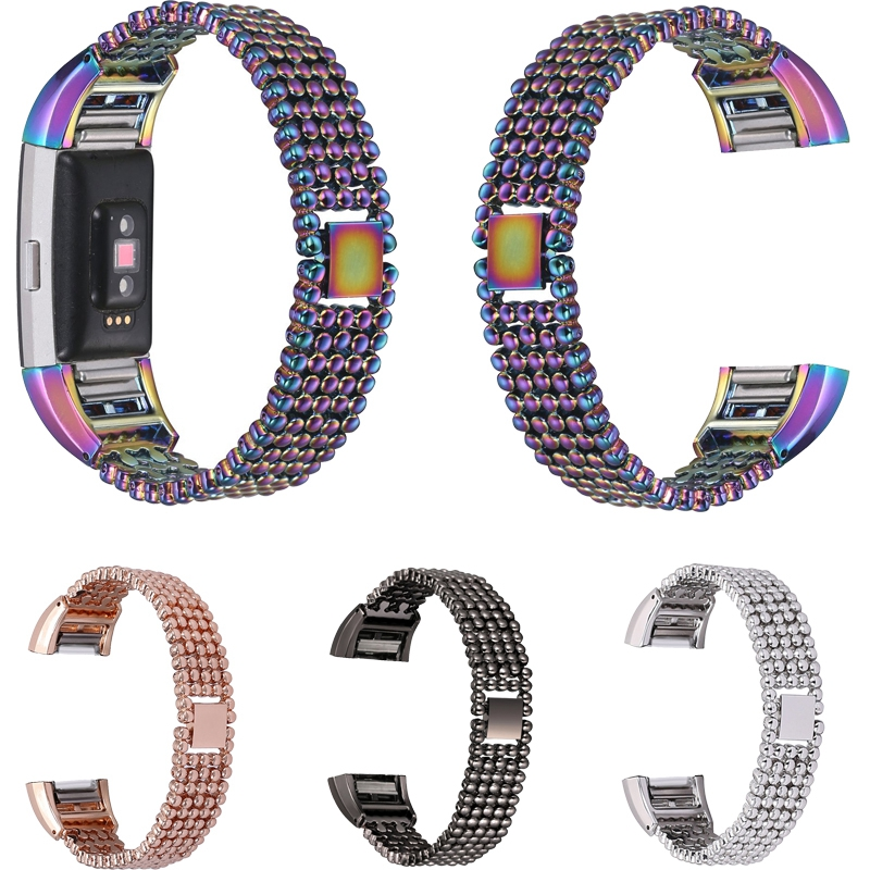 15mm Metal Watch Band High Quality 5 Rows Stainless Steel Strap