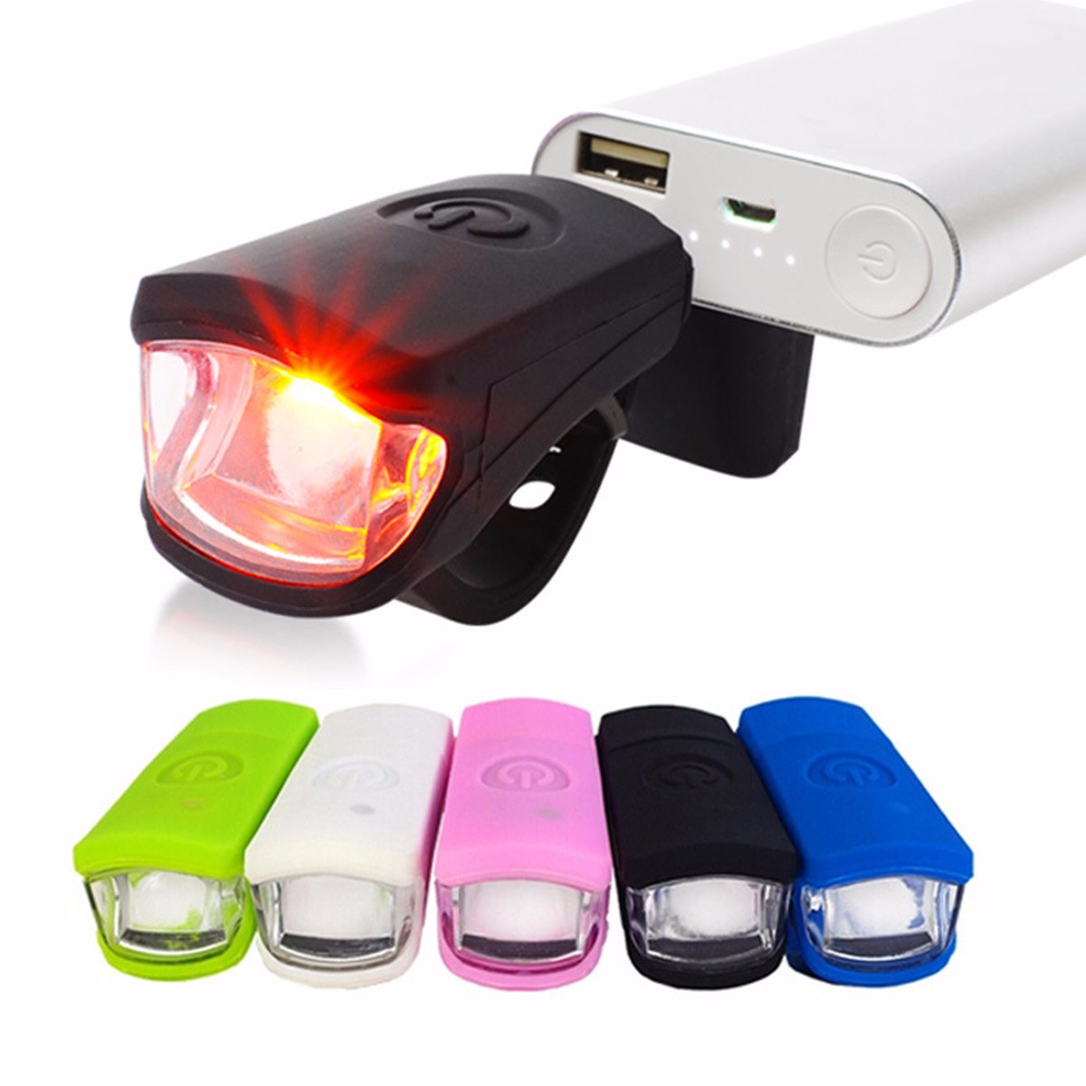 250LM 3W LED USB Rechargeable Head Light Flash Bicycle Bike Stop