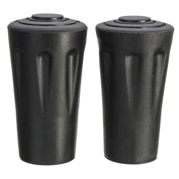 1 Pair Spare Replacement Walking Stick Pole Rubber Ferrule Ends