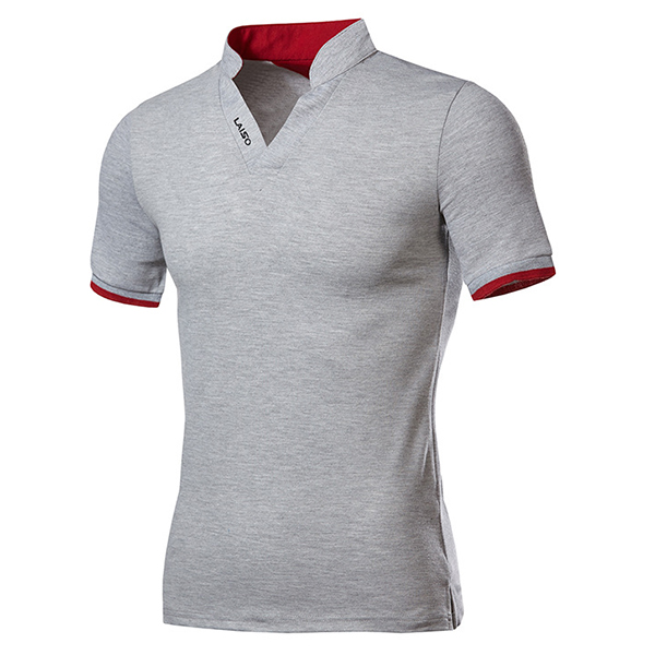 Banggood Fashion Leisure V-neck Solid Color T-shirts Men's Outdo