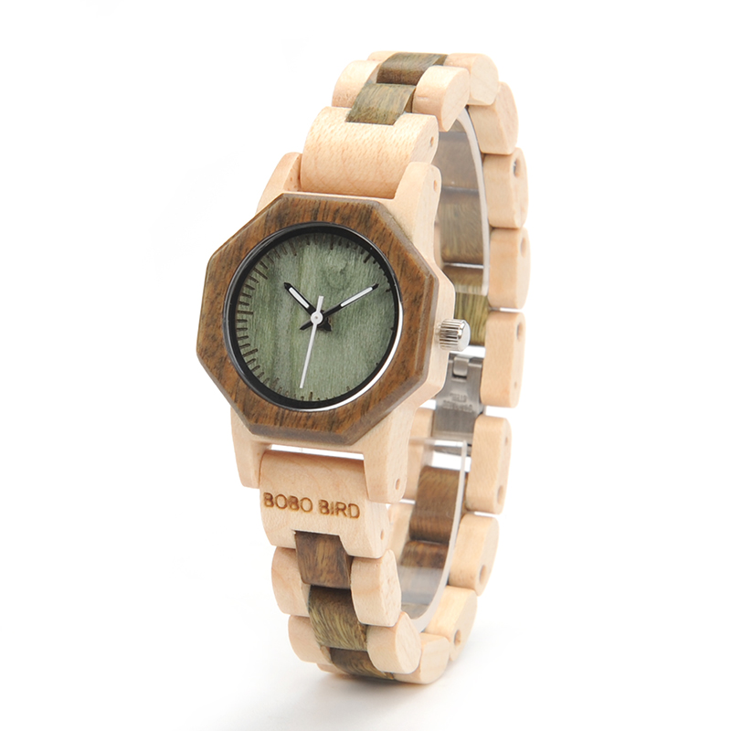 BOBO BIRD M25 Lightweight Fashionable Wooden Wrist Watch Small D