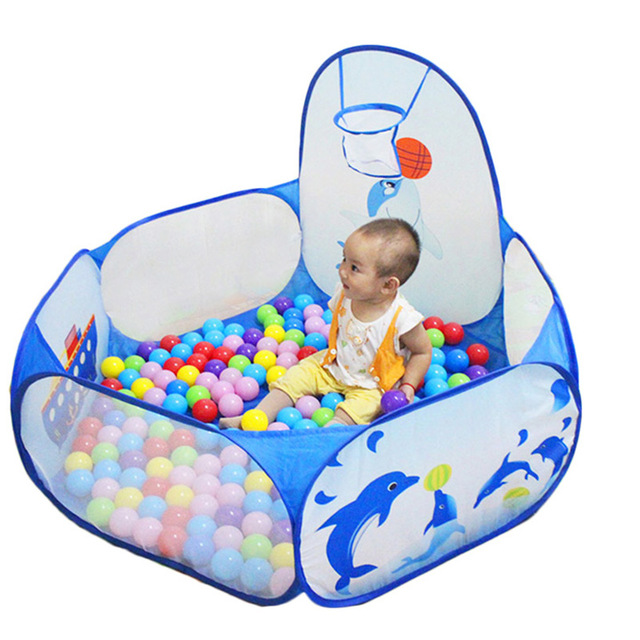1.2M Baby Ball Pool Ocean Plastic Basketball Basket Portable Cam