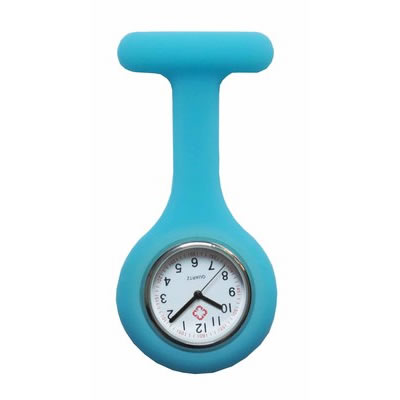 Colorful Silicone Doctor Fob Watch Pocket Nurse Watches with Cla