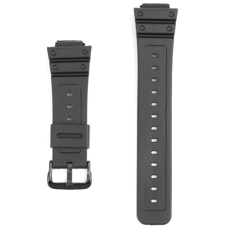 16mm Black Rubber Watch Band For CASIO G-Shock DW-6900 DW6600 Wi