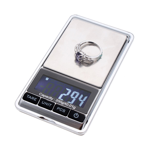 300g x 0.01g Digital Mini Portable Pocket Jewelry Weight Balance