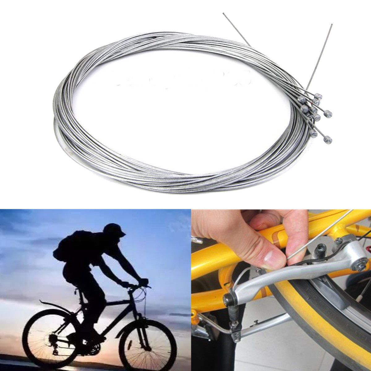 10PCS Bicycle Shift Cables Bike Shift Inner Cable Derailleur Cab