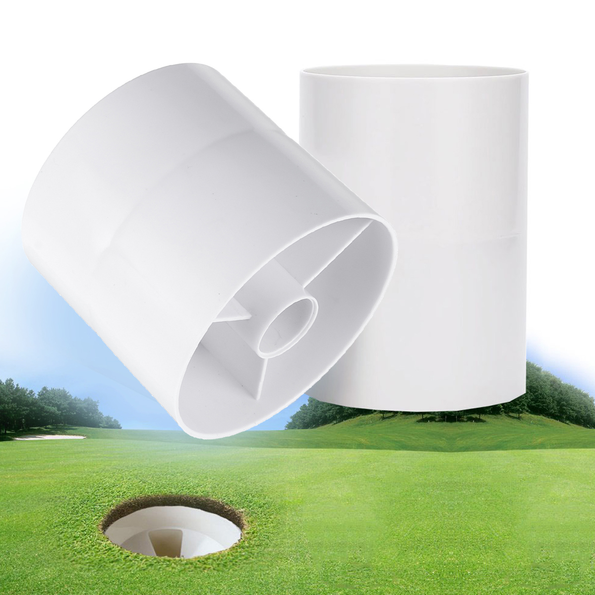 10x10.8cm ABS Golf Hole Cup Plastic Putting Green Cups Golf Acce