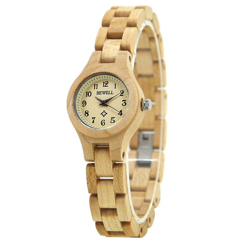 BEWELL ZS-W123A Simple Fashionable Wood Watch Women Quartz Wrist