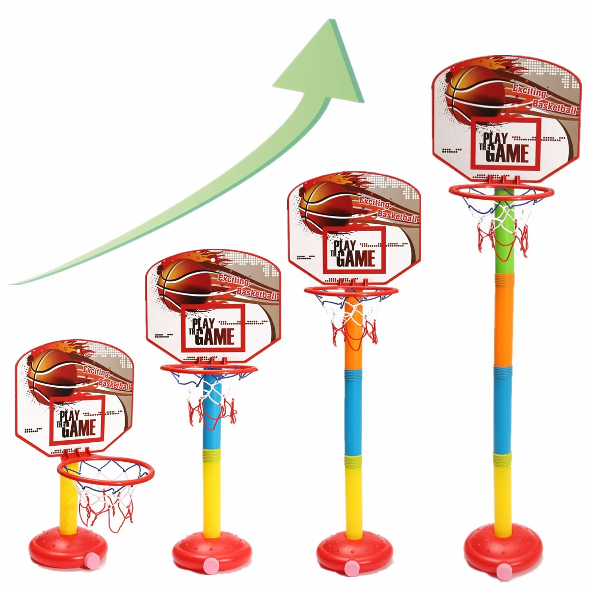4-Gears Height Children 's Outdoor / Indoor Liftable Basketball