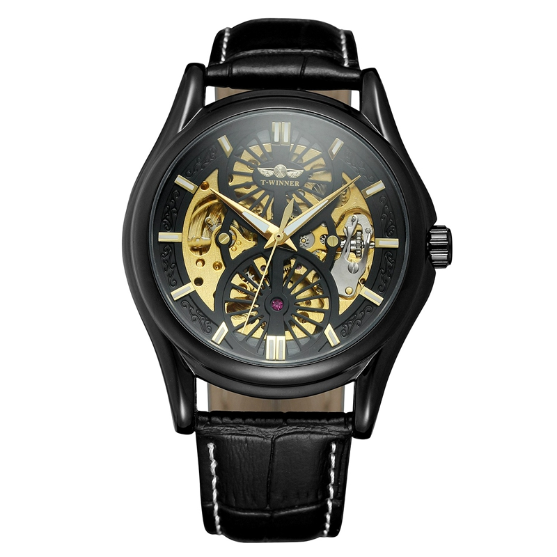 A3 Genuine Leather Strap Automatic Mechanical Watch Fashionable