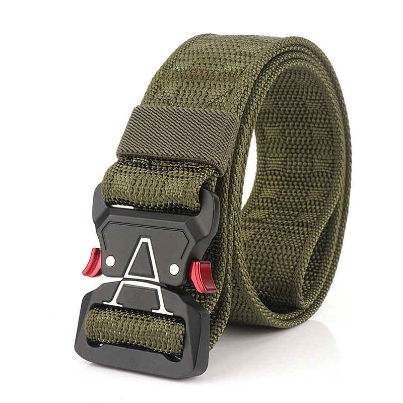 125cm Men 3.8cm Width Nylon Waist Belts Tactical Belt Quick Rele