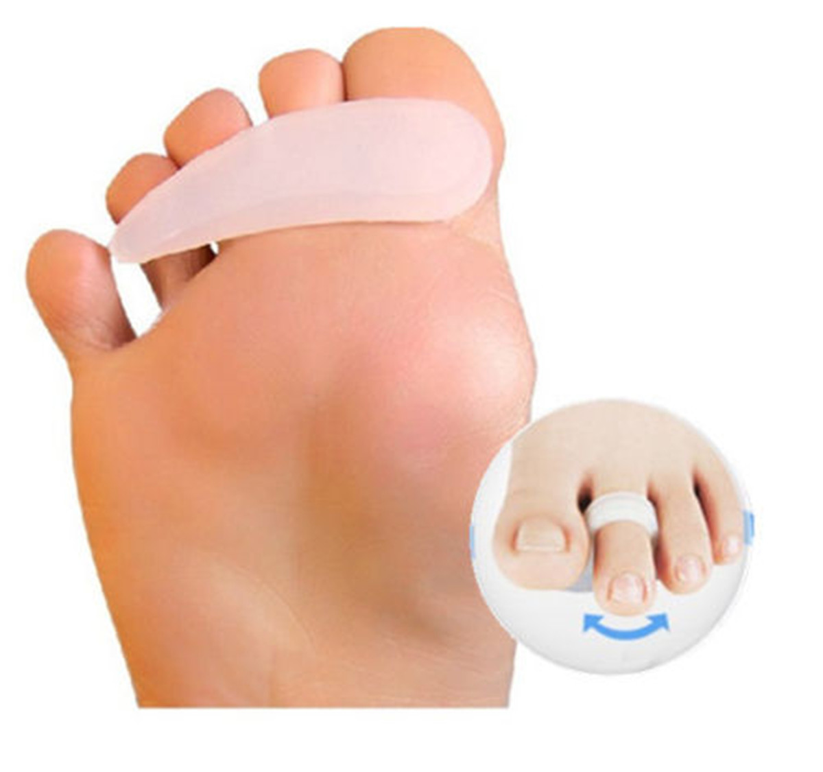 1 Pair Soft Gel Toe Correction Separator Toe Claw-like Mallet To