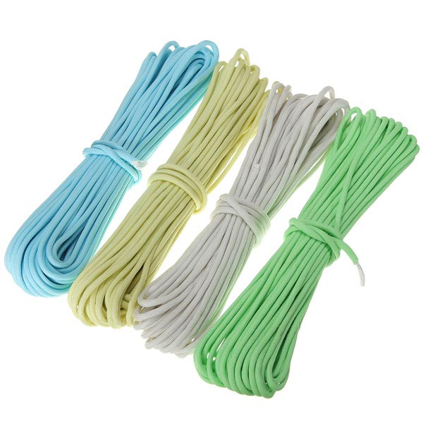 10ft 3m Luminous Glow Nylon Paracord Parachute Cord Rope Multifu